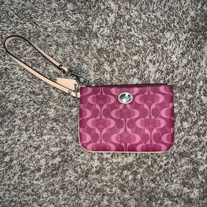 HOT PINK AND CREAM COACH WALLET